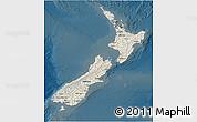 Shaded Relief 3D Map of New Zealand, darken