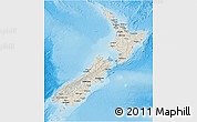 Shaded Relief 3D Map of New Zealand, semi-desaturated, land only