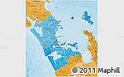 Political Shades 3D Map of Auckland