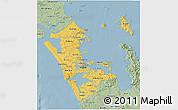 Savanna Style 3D Map of Auckland