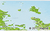 Physical Panoramic Map of Auckland