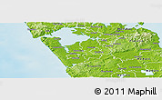 Physical Panoramic Map of Franklin