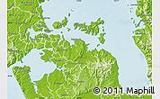 Physical Map of Manukau