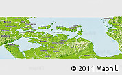 Physical Panoramic Map of Manukau