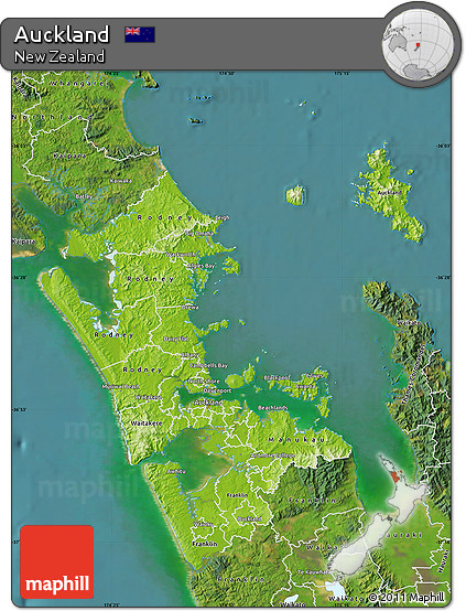 Physical Map Of New Zealand.Free Physical Map Of Auckland Satellite Outside