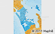 Political Shades Map of Auckland