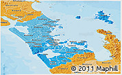 Political Shades Panoramic Map of Auckland