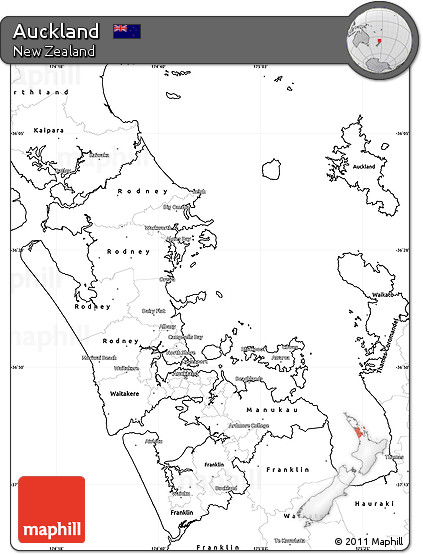 blank simple map of auckland