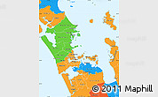 Political Simple Map of Auckland