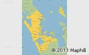 Savanna Style Simple Map of Auckland