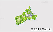 Physical 3D Map of Waitakere, cropped outside