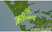 Physical 3D Map of Waitakere, darken