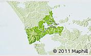 Physical 3D Map of Waitakere, lighten