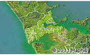 Physical 3D Map of Waitakere, satellite outside