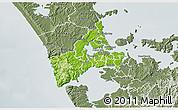 Physical 3D Map of Waitakere, semi-desaturated