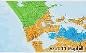 Political 3D Map of Waitakere
