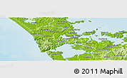 Physical Panoramic Map of Waitakere