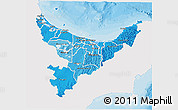 Political Shades 3D Map of Bay of Plenty, single color outside