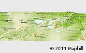 Physical Panoramic Map of Rotorua