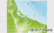 Physical 3D Map of Western Bay of Plenty