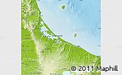 Physical Map of Western Bay of Plenty
