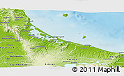 Physical Panoramic Map of Western Bay of Plenty