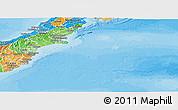 Political Shades Panoramic Map of Canterbury