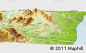 Physical Panoramic Map of Waimate