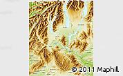 Physical 3D Map of Waitaki