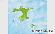 Physical 3D Map of Chatham Islands