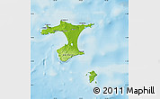 Physical Map of Chatham Islands