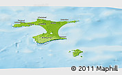 Physical Panoramic Map of Chatham Islands