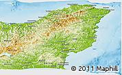 Physical Panoramic Map of Gisborne