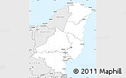 Silver Style Simple Map of Gisborne