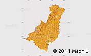 Political Shades Map of Gisborne, cropped outside