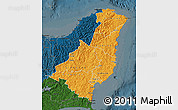 Political Shades Map of Gisborne, darken
