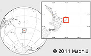 Blank Location Map of Otorohanga
