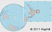 Gray Location Map of Otorohanga