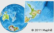 Physical Location Map of Otorohanga