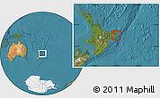 Satellite Location Map of Otorohanga