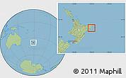 Savanna Style Location Map of Otorohanga
