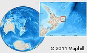 Shaded Relief Location Map of Otorohanga