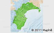 Political Shades 3D Map of Hawke's Bay, lighten