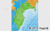 Political Shades Map of Hawke's Bay