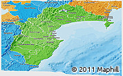 Political Shades Panoramic Map of Hawke's Bay