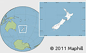 Blank Location Map of New Zealand, savanna style outside