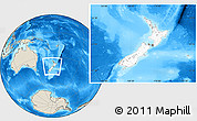 Blank Location Map of New Zealand, shaded relief outside