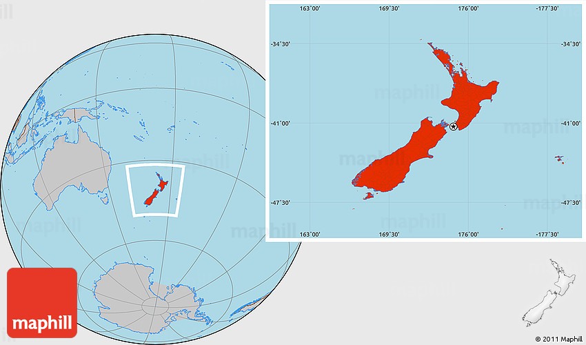Absolute location of new zealand