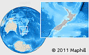 Gray Location Map of New Zealand, shaded relief outside, hill shading