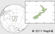 Savanna Style Location Map of New Zealand, blank outside